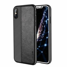 For iPhone X 8 7 Plus Luxury Ultra Thin Hybrid Leather Skin Soft TPU Case Cover