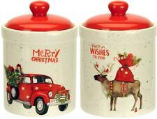 Keksdose aus Keramik für Weihnachtsgebäck - Plätzchendose Gebäckdose 1,2 L 18 cm