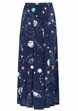 Rixo London Georgia Cosmic Silk Midi Skirt Size S