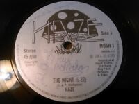 "* SIGNED * HAZE - THE NIGHT / DIG THEM MUSHROOMS 7"" 45 RPM EX!!! RARE UK PRIVATE"
