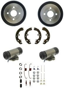 Brake Drums Shoes & Cylinders Kit Rear for Prizm Corolla Without ABS