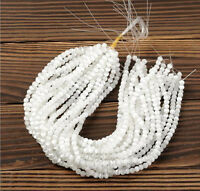 50Pcs Round Natural White Opal Cat's Eye Simulate Gemstone Loose Spacer Beads