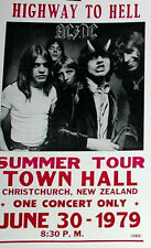 """AC/DC Concert Poster - 1979 Highway to Hell Summer Tour - 14""""x22"""" - Angus Young"""