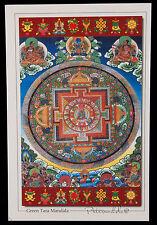 CARTE POSTALE MANDALA GREEN TARA VERTE NEPAL TIBET DEITE BOUDDHISTE-7665