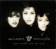 Wilson Phillips - You Won't See Me Cry (CD, Single, 1992, SBK Records) - PROMO