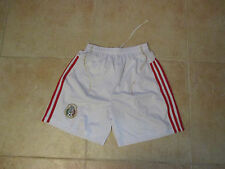 VINTAGE ADIDAS MEXICO NATIONAL TEAM XL WHITE SEWN SHORTS 2011-2013 KIT PRE-OWNED