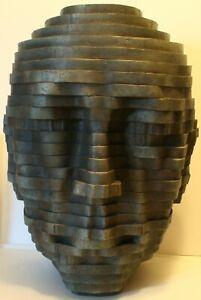 "Large Toscano 3D 16 x 12"" Table Wall Head Face Sculpture Art Home Decor 6 lbs"