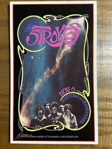 The STROKES TX 2005 shows poster HANDBILL Signed Macrae