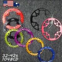 32-42t 104BCD Round Oval Chainring MTB Bike Chainwheel Chain Guard Sprocket CNC
