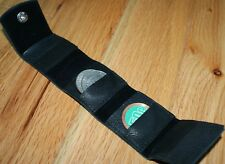 Coin Holder - roll-up style (soft leather) - holds up to 8 half dollars Tmgs