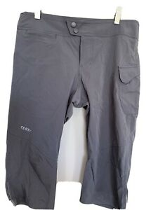 Terry Bike Capri Gray Bicycle Knickers Quick Dry Cycling Size S