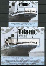 Tuvalu 2012 titanic barco catástrofe ship Navi naufragio 1816-19 bloque 181 mnh