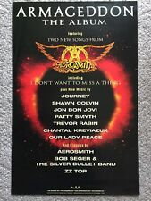 Armageddon Movie Soundtrack PROMO POSTER  Aerosmith Used Music Store