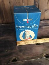 Vintage Coldspot Freezer Bag Filler, Great Advertising Piece, Sears
