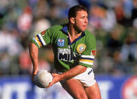 OLD LARGE RUGBY LEAGUE PHOTO, Ricky Stuart of the Canberra Raiders 1993