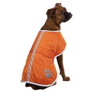 Zack & Zoey Extra Large Polyester Reversible Reflective Dog Coat Cover, Orange
