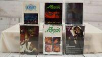 BON JOVI POISON TESLA KIX + Vintage Heavy Metal Rock Cassette Tape Lot x 6 #556