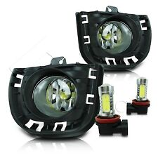 14-16 Scion TC Fog Lamps Pair w/Wiring Kit & High Power COB LED Bulbs - Clear