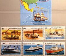 BENIN 1995 631-36 Block 9 748-754 Steam Ship Dampfschiff Schiffe Ships MNH