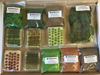 Best Sellers Bundle Kit E -Model Scenery wargame static grass tufts flower Clump