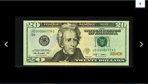 NEW PCGS 64 THREE DIGIT SERIAL NUMBER 779 Fort Worth 2009 $20 FR.2096-D