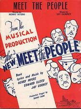 1940 Theater (Meet the People) Sheet Music (Meet the People)