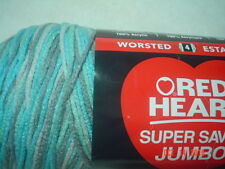 1 Skein of Red Heart Super Saver JUMBO Worsted Weight Yarn in Icelandic