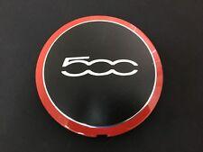 Fiat 500 OEM Wheel Center Cap 2012 2013 68078419AC 68078421AC Black Red