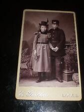Cdv photograph children hats Gartheis at Le Locle Switzerland c1890s Rf 507(16)