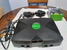New listing Orginal X Box W/ 2 Controllers 6 Games And All Wiring