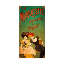 Vintage Style Retro Dessert Liqueur Steel Sign 12 x24