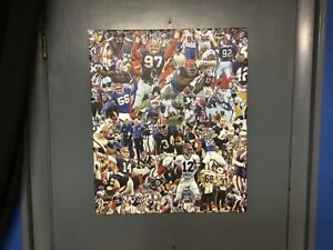 24x20 BUFFALO BILLS CANVAS wrapped poster Jim Kelly Bruce smith art READY 2 HANG