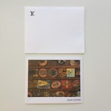 Auth LOUIS VUITTON Blank Trunks Post Note Greeting Message Card Large w/Envelope