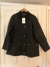 Barbour Ladies' Monteviot Waxed Jacket Size UK12 (fits a UK10) - Olive