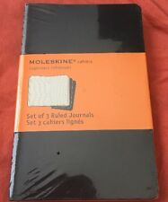 """Moleskine Cahiers Set of 3 Ruled Journals Black 64 Pgs Each 3 1/2"""" X 5 1/2"""""""