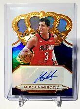 NIKOLA MIROTIC 2018 Crown Royale Autograph BUCKS 21 60 Pelicans Jersey d8bc3cfb2
