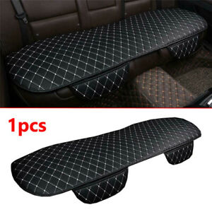 Car Rear Seat Cover Cushion Pad PU Leather Black&White For Interior Accessories