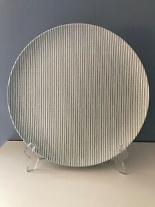 NWT Hearth & Hand Melamine Blue Teal Ticking Stripes Dinner Plates Set of 5