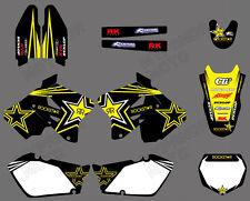 Graphics Decal Sticker Kit Team Background For Suzuki RM125 RM250 2001-2012