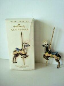 Hallmark PRANCING REINDEER Carousel Ride Ornament #3 Third is Series 2006 !
