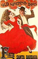 Old Spanish Days Beautiful Fiesta City Santa Barabara California Postcard