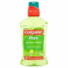 Colgate Plax Natural Fresh Mouthwash Oral Care Tea & Lemon Extracts 500ml