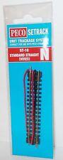 Peco N Setrack ST-10 - Standard Straight (Wired) - (N Gauge)