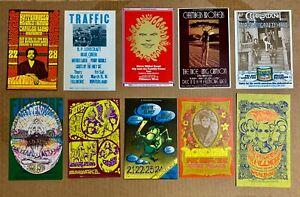 bill graham postcard LOT MINT