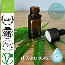 Whole Plant Hemp Oil Drops 5% Pure Extract Natural Remedy Pain Relief