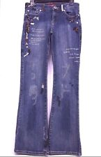 American Exchange Boot Cut Womens Jeans Size: 27X31 Low Rise  Glitter Bling