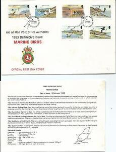 1983 Isle of Man FDC & Insert Marine Birds Set of 6 to 18p FDI 15-2-1983 Douglas
