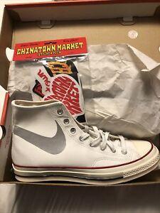 Chinatown Market x Converse Chuck Taylor 70 white Swoosh Bootleg Size 9