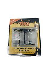 TIKI Brand Torch Mounting Bracket - Securely Mounts Bamboo Metal Torches to Deck