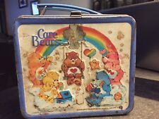 Vintage Care Bears Metal Lunch Box And Thermos
